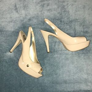 GUESS tan heels